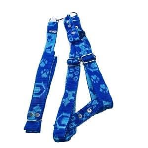 collar para perro estampado azul