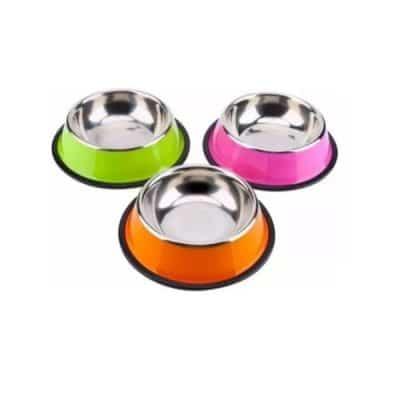 platos metalicos para perros